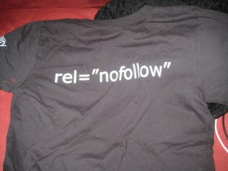t-shirt from eVisibility from the 2008 SMX conference