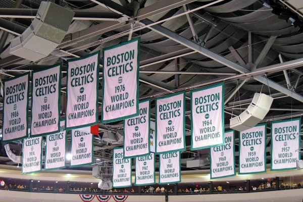 Boston Celtic Championship Banners
