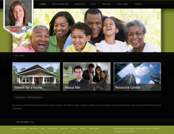 Cara Keys - Parrish Realty Website Screenshot
