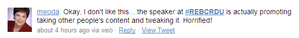 Margaret Woda was horrified on Twitter