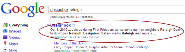 designbox serp description