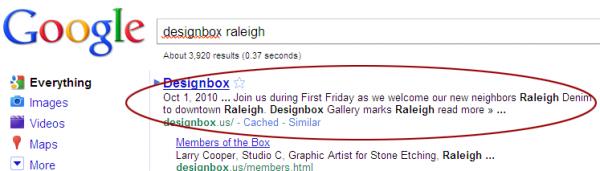 designbox serp description