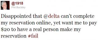 Delta #Fail