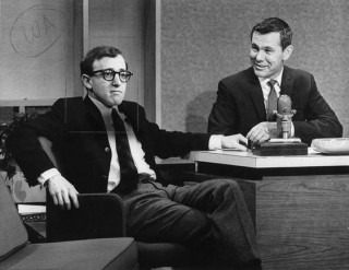 Woody Allen and Johnny Carson on The Tonight Show in 1965