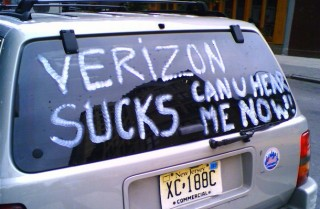 Verizon Sucks truck