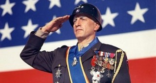 George C. Scott as Patton in the opening scene from the movie