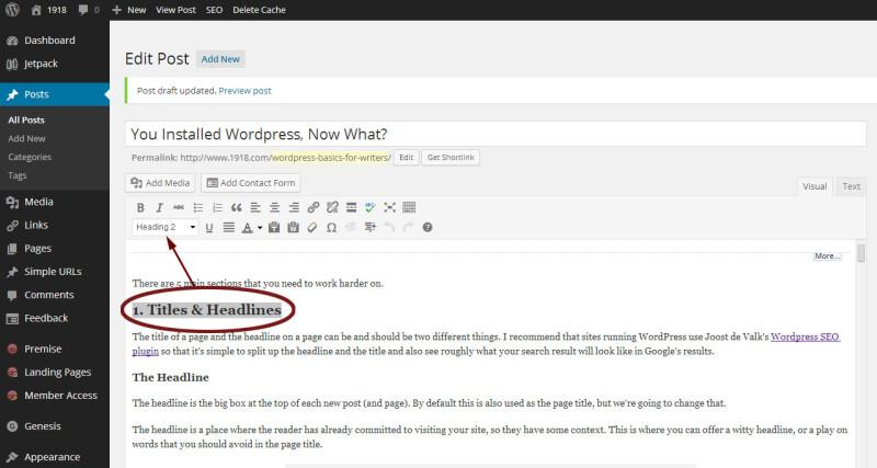 WordPress semantic layout