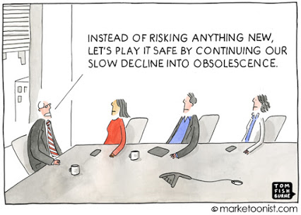 """Safe is Risky"" cartoon 