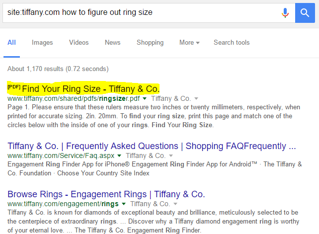 Tiffany & Co. ring sizing